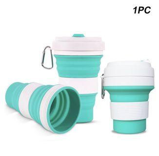 🚚 550ml multifunctional silicone coffee cup with collapsible lids