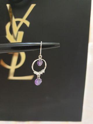 韓國紫水晶優雅耳環