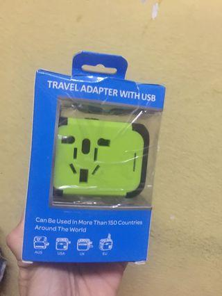100% New Travel adapter 2 USB Ports (NO WITH CABLE)