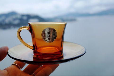 日本帶回 昭和 DURALEX琥珀茶杯套
