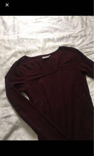 M boutique maroon long sleeve