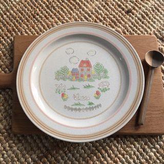 全新絕版款•Country Home Stoneware•日本製•暖色系鄉村風主餐大瓷盤/餐盤/圓盤