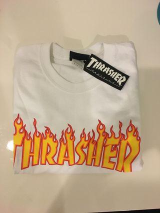 Thrasher Flaming White Shirt