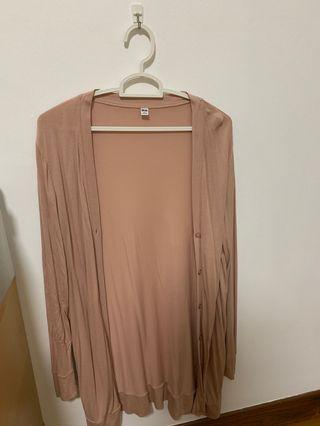 Uniqlo nude pink cardigan