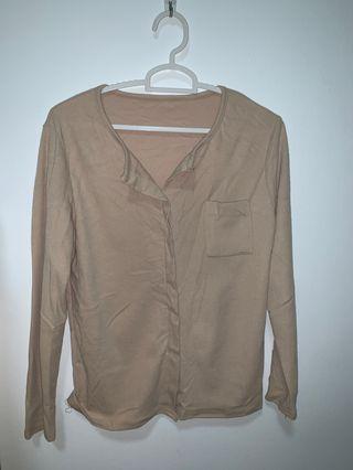 Korean beige blouse