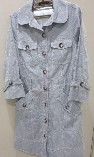 Le Ann Stripe Coat Dress