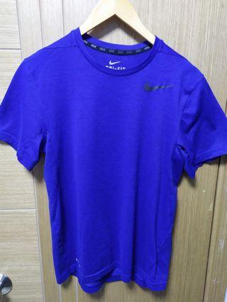 Nike藍色 運動衫 S碼