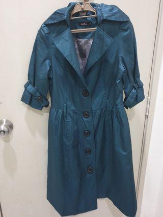 Le Ann Green Coat Dress