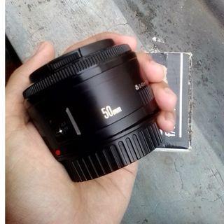 Lensa Fix Canon 50mm F1.8 ii murah ada box