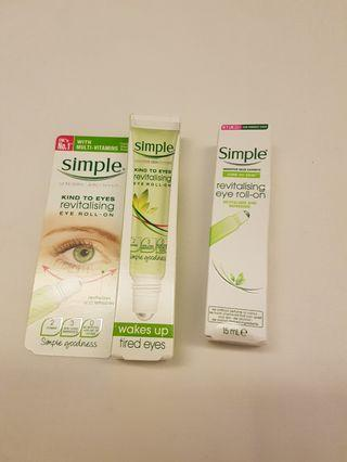 🚚 Simple Revitalizing Eye Roll-On / Wakes Up Tired Eyes / 15ml X 2 pcs