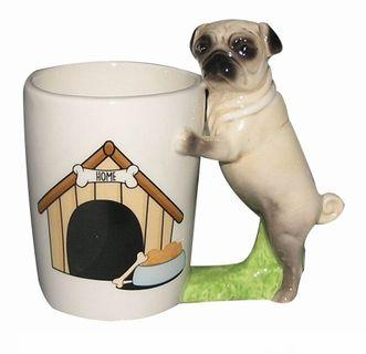 巴哥 狗狗 寵物 pug 杯子 馬克杯 交換禮物 辦公室 生日禮物 送女友男友
