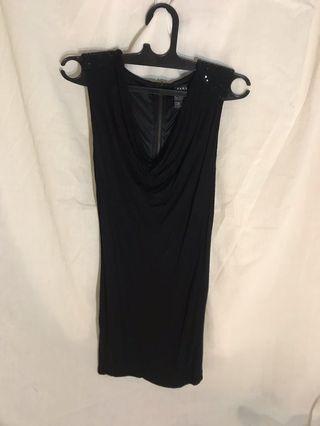 Zara Black dress #mauthr