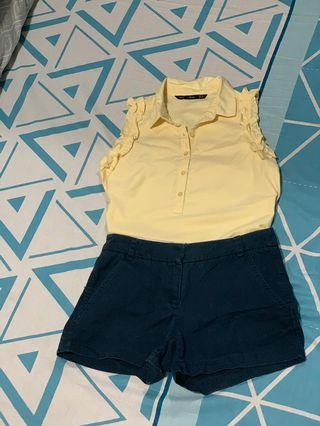 For me blouse and forever 21 shorts