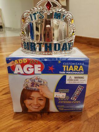 Customizable Tiara Birthday Crown