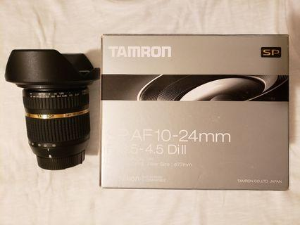 Tamron SP AF 10-24mm F/3.5-4.5 Di II Wide Angle Lens for Nikon