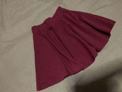 Maroon A-line Skirt