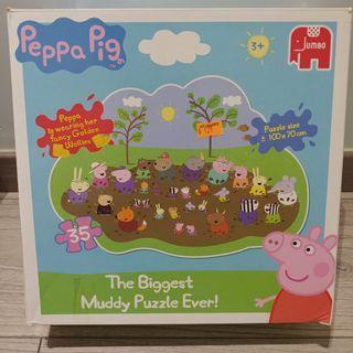Peppa pig 35 片 砌圖 jigsaw puzzle 連原裝盒