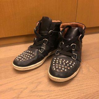 Sandro black leather sneakers