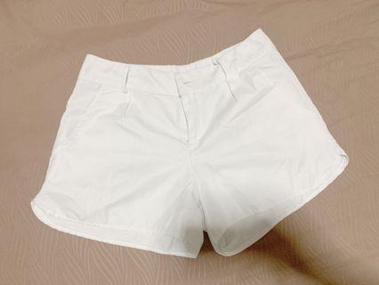 Plain White Shorts