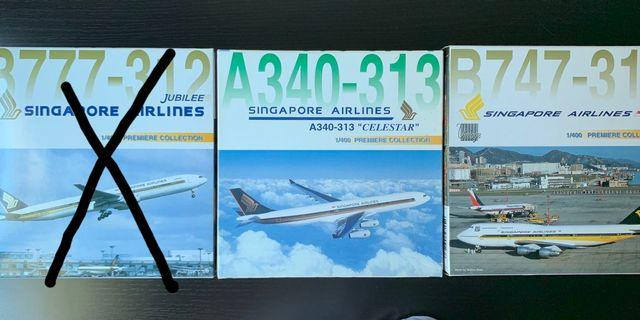 🚚 Singapore Airlines 1:400 diecast models Dragon Wings
