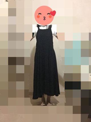 寛鬆黑色長裙