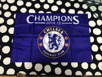 🚚 CHAMPIONS Chelsea LAST GAME 2014/2015 at STAMFORD BRIDGE FANS SEAT FLAG
