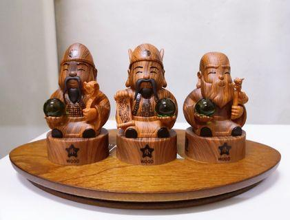 🚚 福禄寿 Fu Lu Shou (Element Wood, Stone Jade)