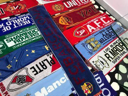 🚚 FOOTBALL EPL , LA Liga & Scarves LIVERPOOL CHELSEA MANCHESTER CITY UNITED BARCELONA REAL MADRID