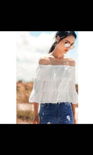 🚚 Fashmob Ariana top white