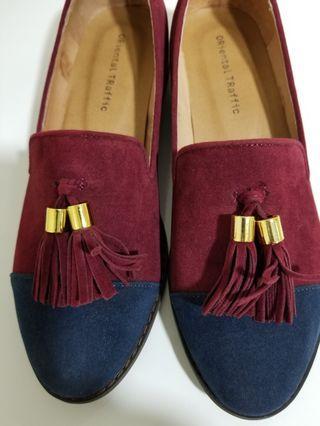 日本Oriental Traffic Tassel Loafers 樂福鞋(Red/Navy 紅/藍)