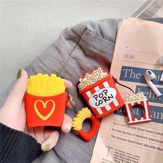 [PO]cute fries,hamburger,popcorn airpods case