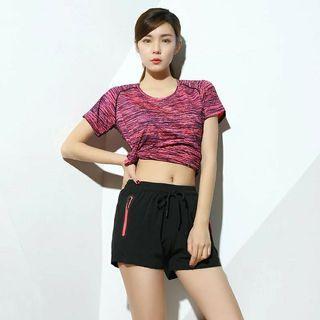2pieces 440女裝透氣運動衣健身衣籃球衣短袖T恤