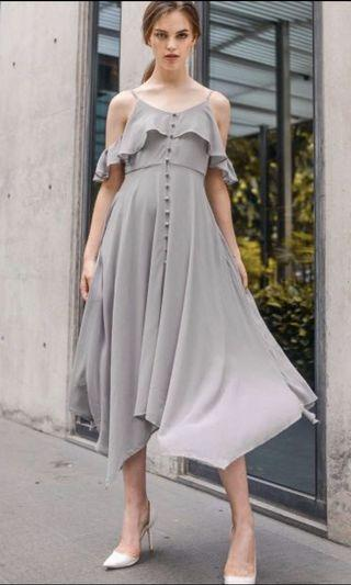 Fashmob Scarlett Maxi Taupe Grey