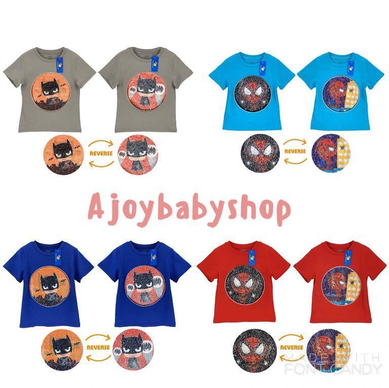 全新 Batman Spiderman Ironman 變色 Tee