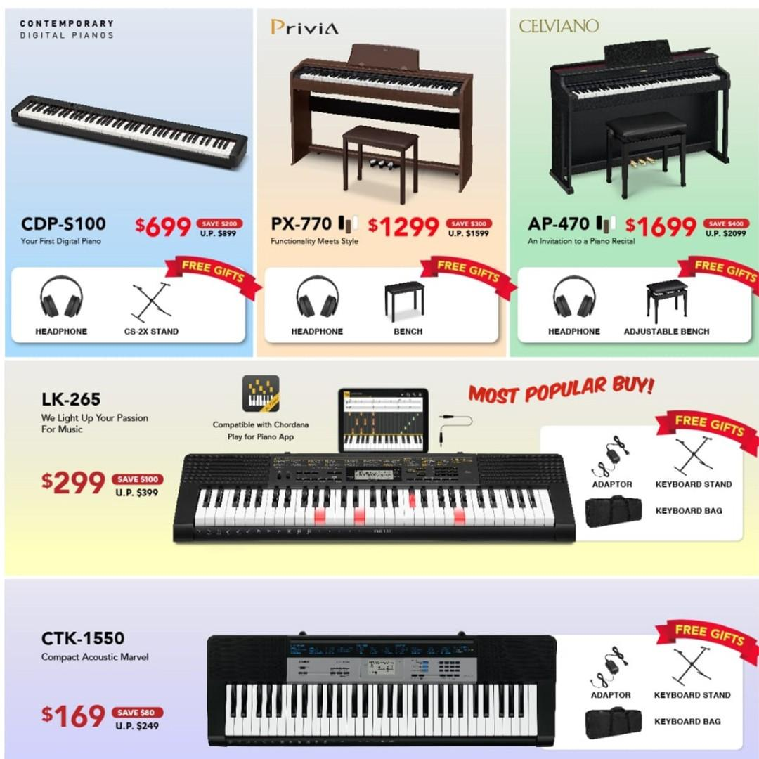 Casio Music Sale @ Viva Business Park! Official Launch Casio Digital Piano PX-S1000 -