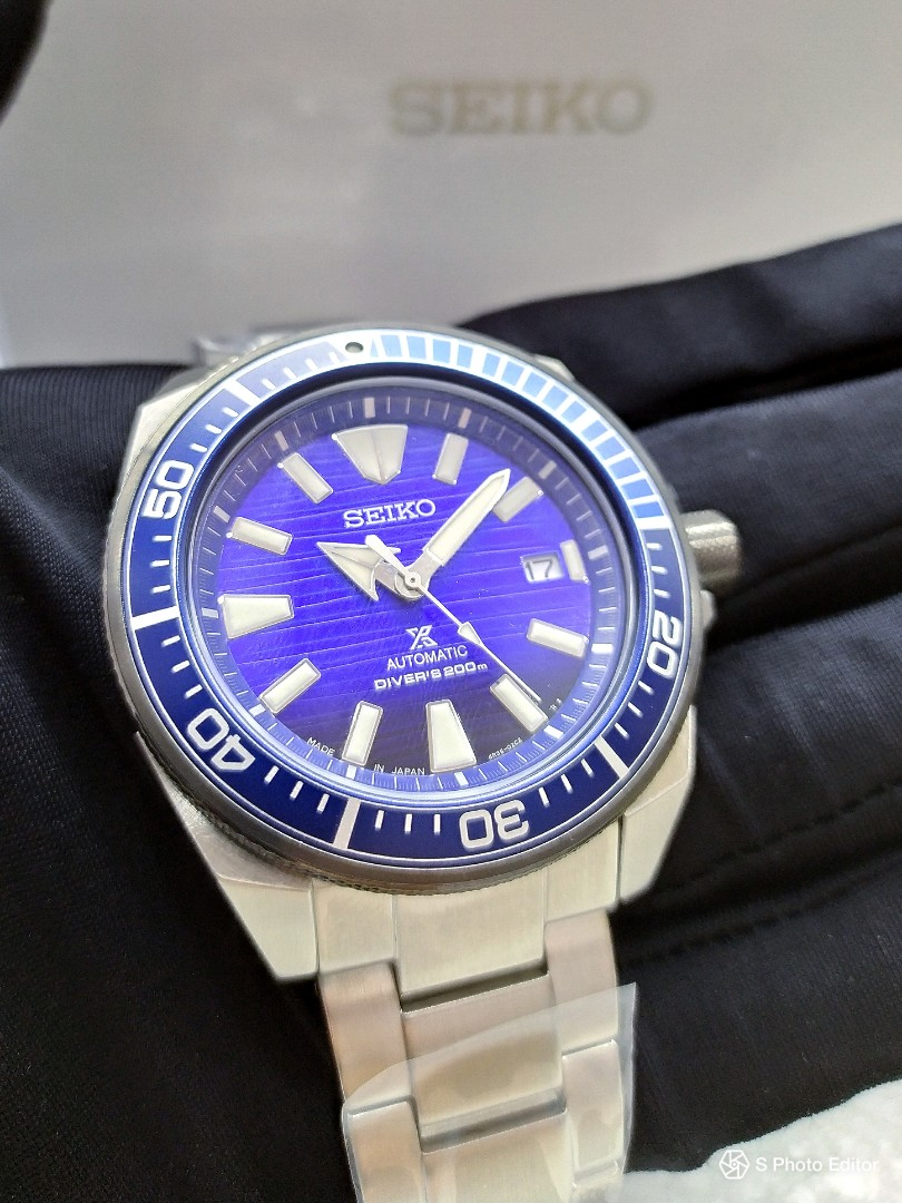 Free Delivery Made In Japan Brand New 100 Authentic Seiko Prospex Save The Ocean Black Blue Dial Men S Automatic Divers Watch Srpc93j Srpc93