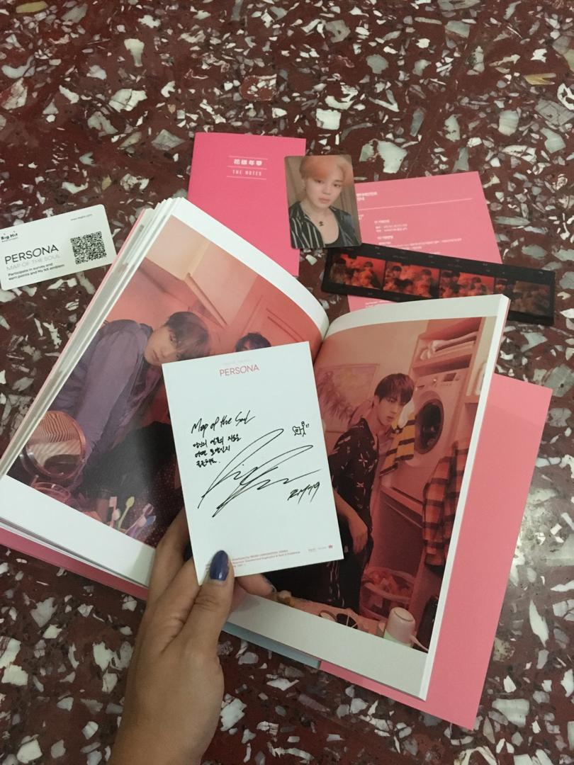 Album BTS Persona with Jimin photocard and RM Postcard