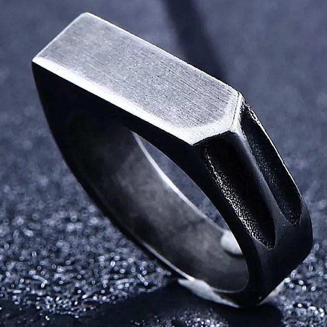 Antique Finish Stainless Steel Ring