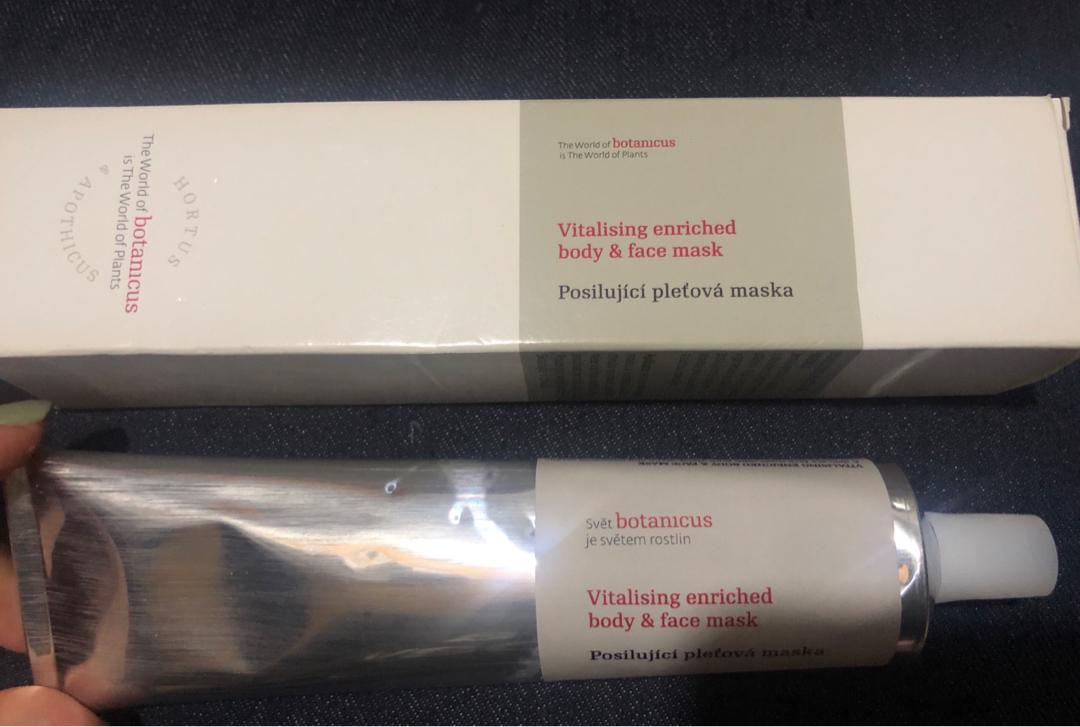 botanicus vitalising enriched body and face mask