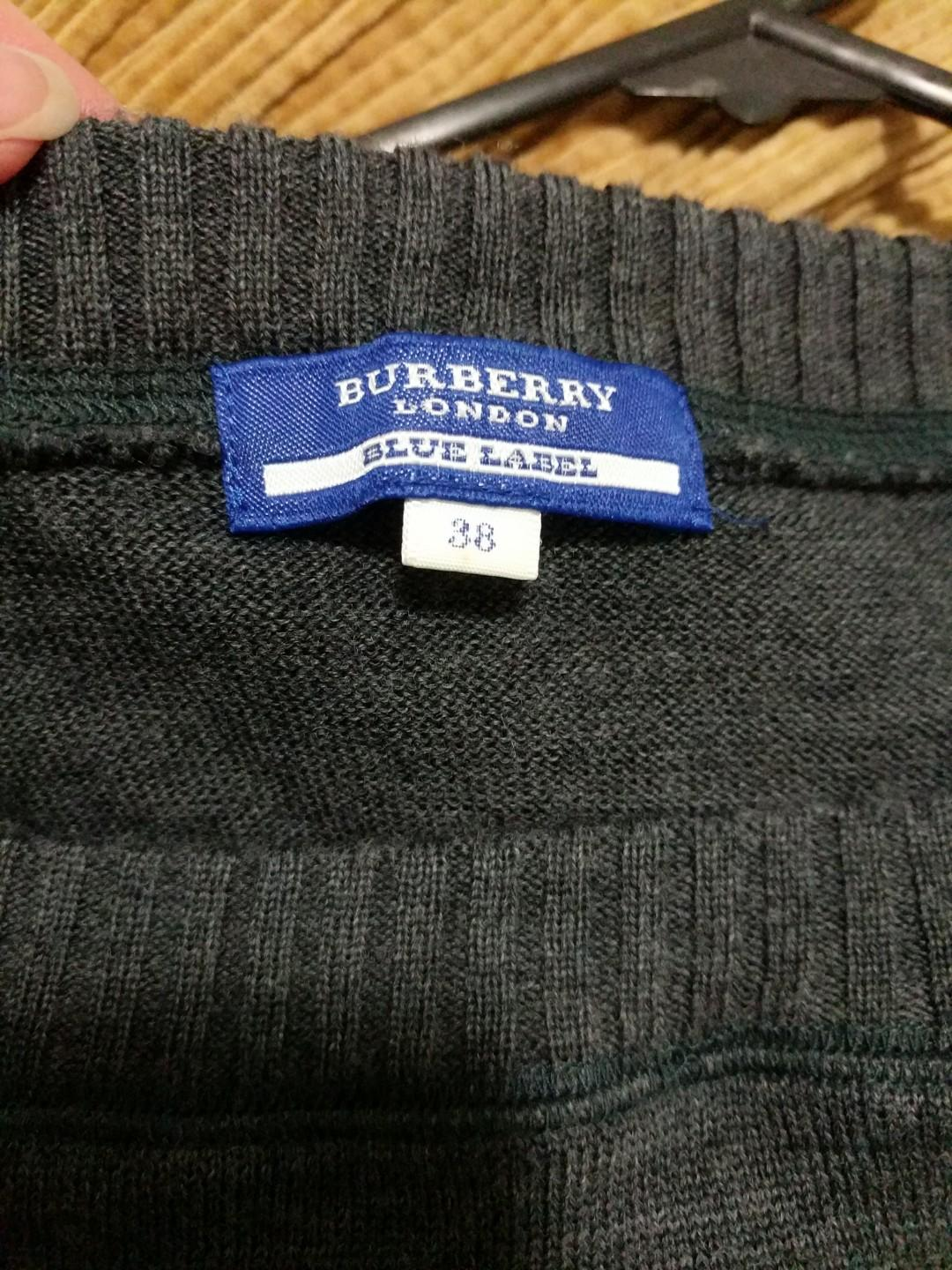 Burberry Blue label ash grey wool knitted jumper / sweater