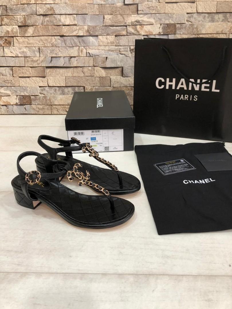 Chanel  94305, SUPERMIRROR, 35-40, Hak 3.5cm, Tapak Asli Kulit  H  @1.2 jt (Standar Size)  Berat 700g