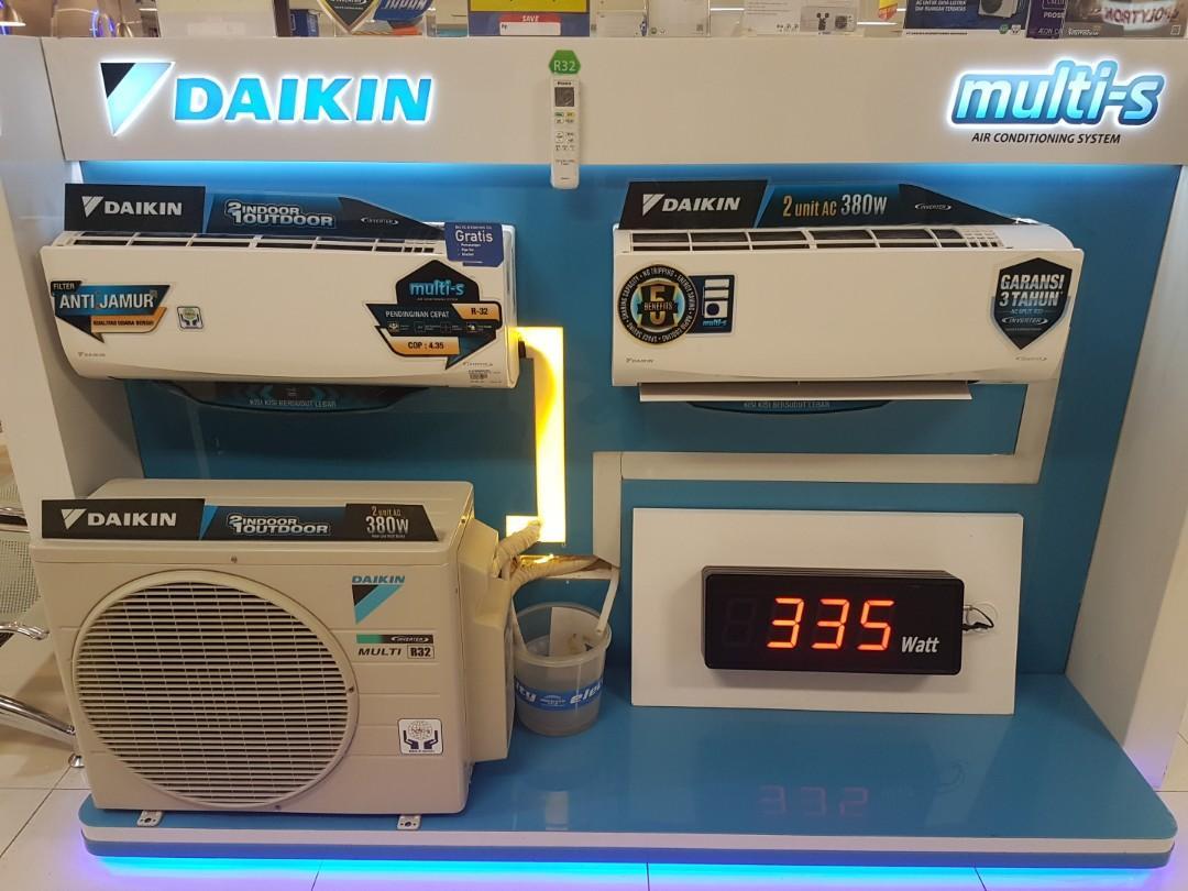 Cicilan tanpa kartu kredit Ac Daikin 2 in 1 outdor proses cepat