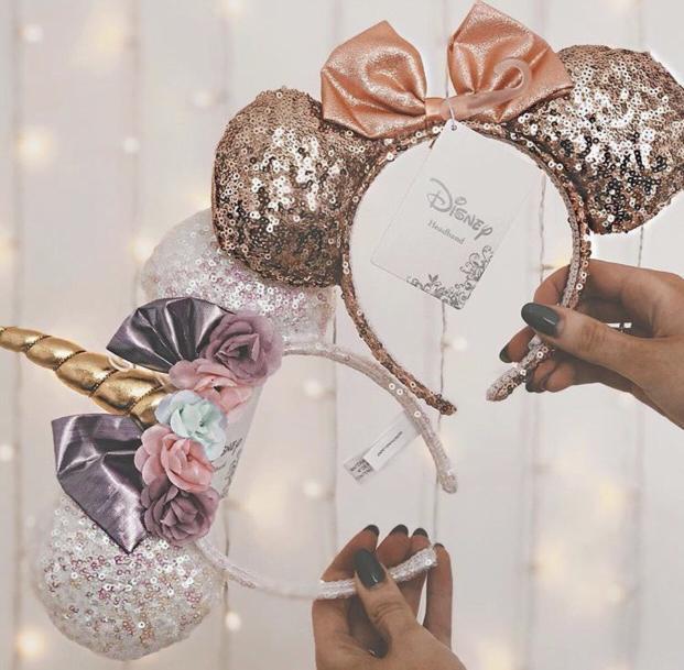 Disney® Sequin Unicorn Minnie Mouse Ear Headband - White