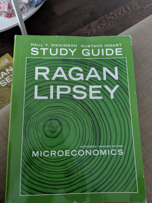 Economics Ragan Lipsey 13E textbook+2 study guides