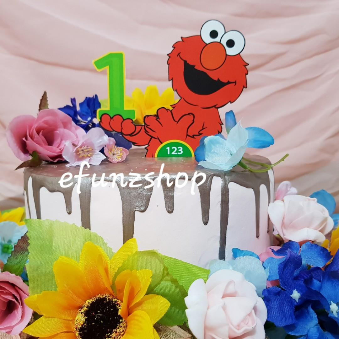 Elmo Cake Topper Centrepiece Design Craft Handmade Craft