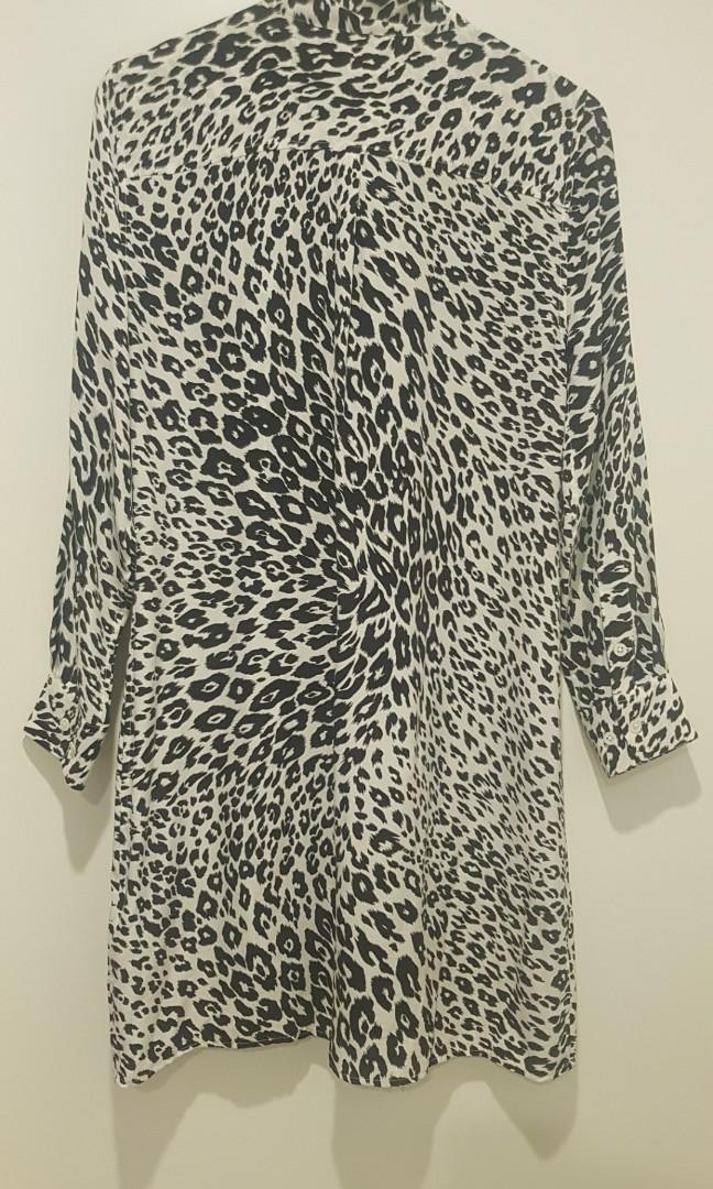 Equipment France silk shirt dress, size 8, worn once