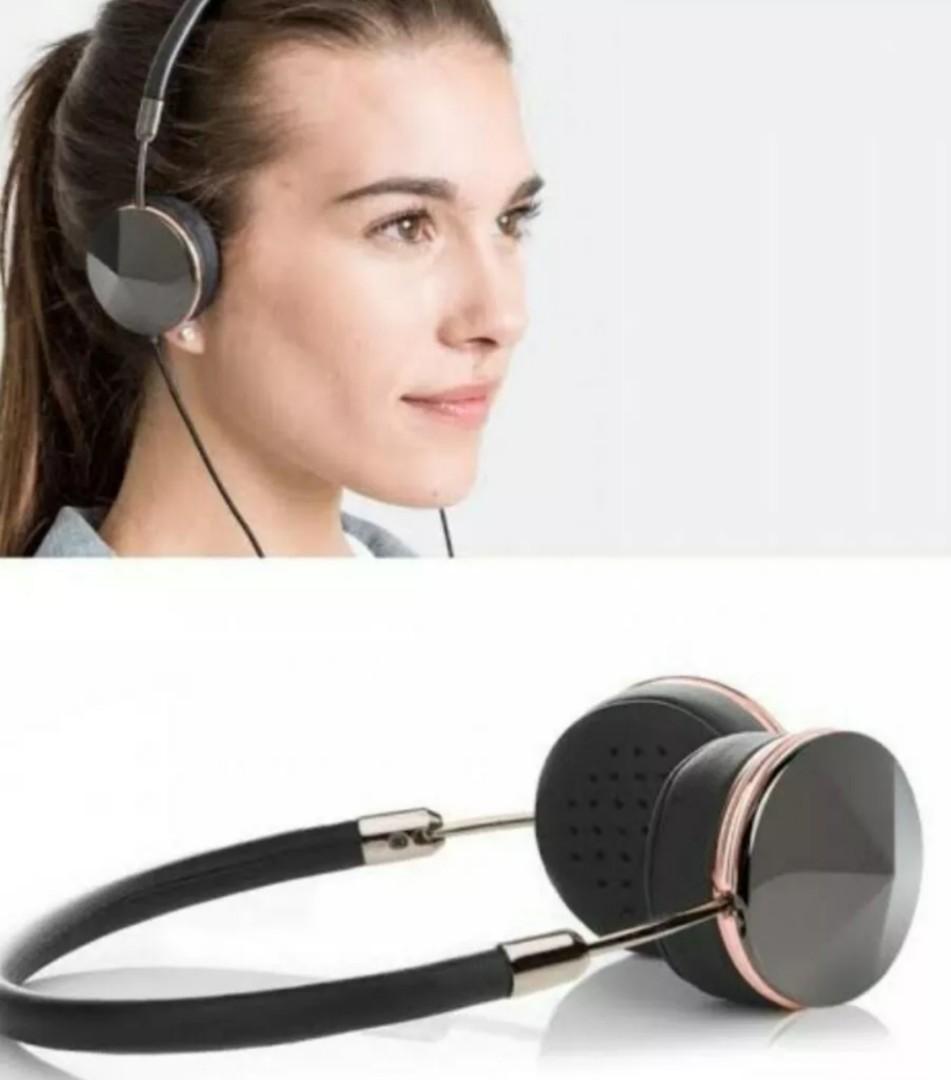 Frends Leyla Headphones in Gunmetal Black / Rose Gold RRP 199.95