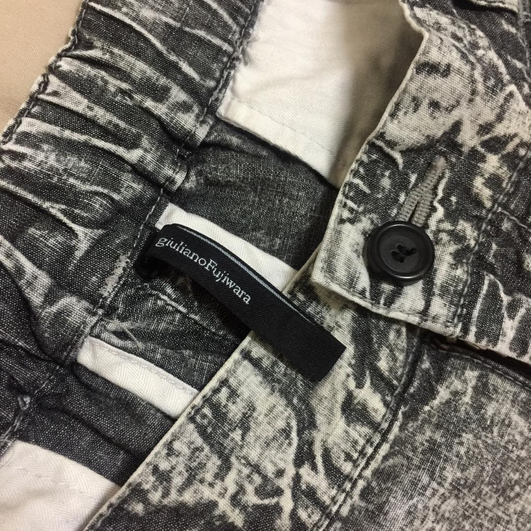 義大利精品品牌Giuliano Fujiwara 斑駁破壞刷色短褲