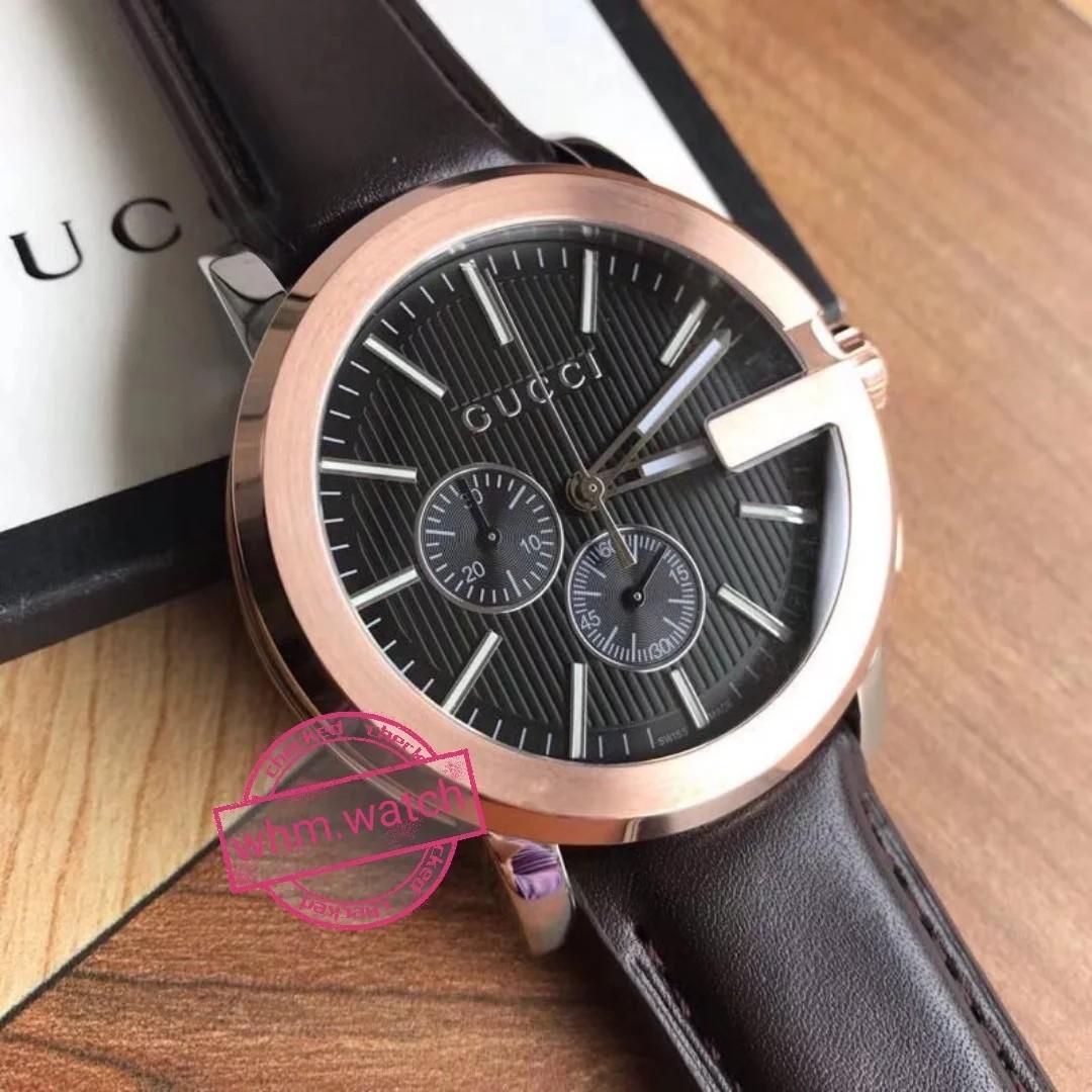 e37f6b813 Gucci G Chrono XL Black Dial Brown Leather Men's Watch YA101202 - G-Chrono  - Gucci Watches, Men's Fashion, Watches on Carousell