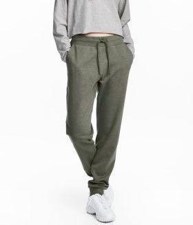 e14051c285cd90 h&m divided khaki green sweatpants, Women's Fashion, Clothes, Pants, Jeans  & Shorts on Carousell